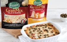 Millefoglie di zucchine, crema al GranMix Classico Ferrari e pomodori secchi