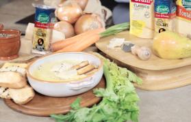 Creamy cheese soup