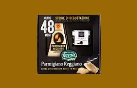 Parmigiano Reggiano oltre 48 mesi e perle di aceto balsamico