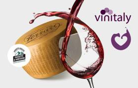 "Ferrari brings the excellence of cheese to Vinitaly. Come and taste our Parmigiano Reggiano ""Prodotto di Montagna Progetto Qualità""!"