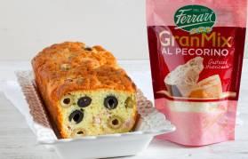 Cake alle olive e GranMix al Pecorino Ferrari