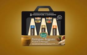 Parmigiano Reggiano Prodotto di Montagna 3 stagionature a confronto
