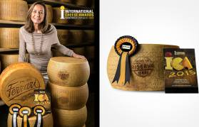 A gold medal for Ferrari Grana Padano Riserva at the International Cheese Awards, Nantwich