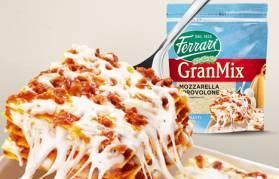 GranMix mozzarella e provolone è ideale per lasagne sempre filanti morbide ma compatte