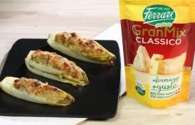 Indivia gratinata con pancetta e formaggio