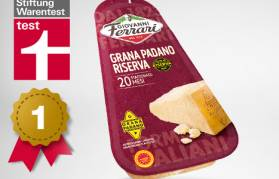 Giovanni Ferrari Grana Padano Riserva was found to be the best on the german market