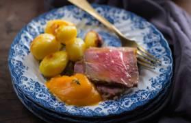 Purea di zucca al timo e roast beef