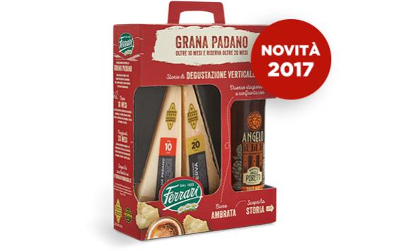 A Natale Ferrari vi sorprende con la nuova confezione con Grana Padano e birra
