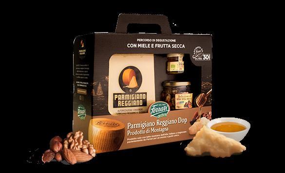 Parmigiano Reggiano Dop di montagna - Degustazione formaggio miele e frutta secca