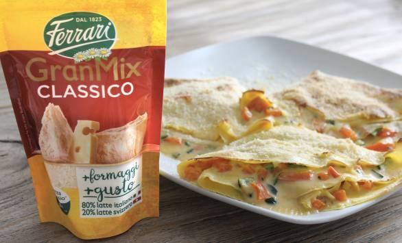Crêpes alle verdure con crema di GranMix Classico