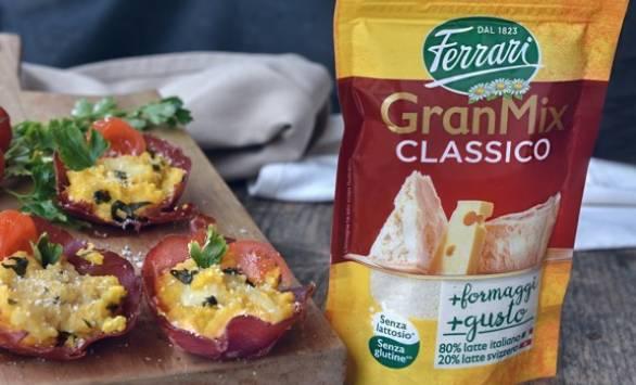 Cestini di bresaola con crema di patate e formaggi