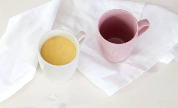 Mugcake al limone e zenzero