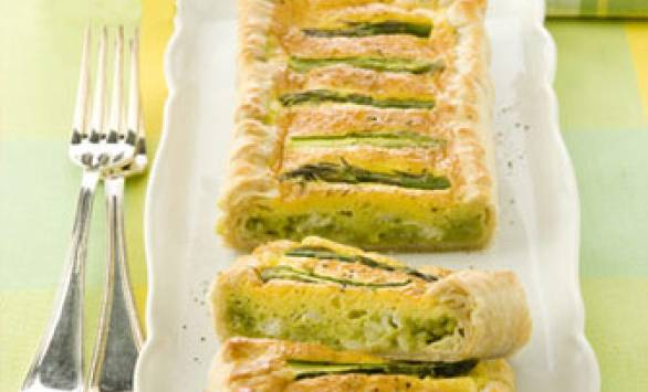 Quiche con asparagi