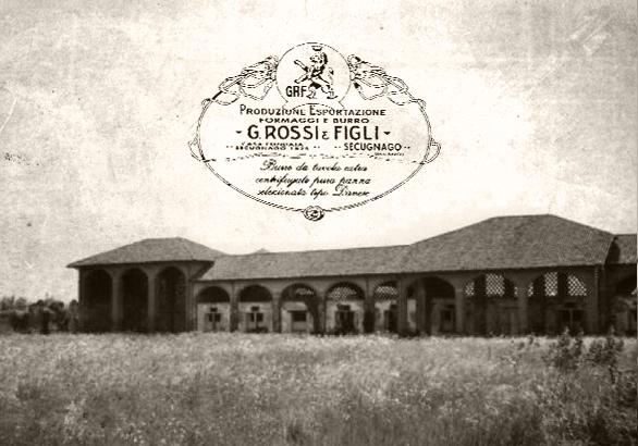 Foto del 1823 del Caseificio Ferrari Formaggi nella Pianura Padana