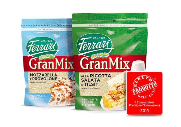 Formaggi GranMix Premiati come Prodotto dell'anno 2013