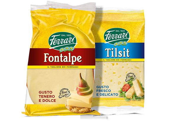 Confezioni di Formaggio Fontalpe e Formaggio Tilsit