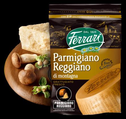 Grated Parmigiano Reggiano di Montagna