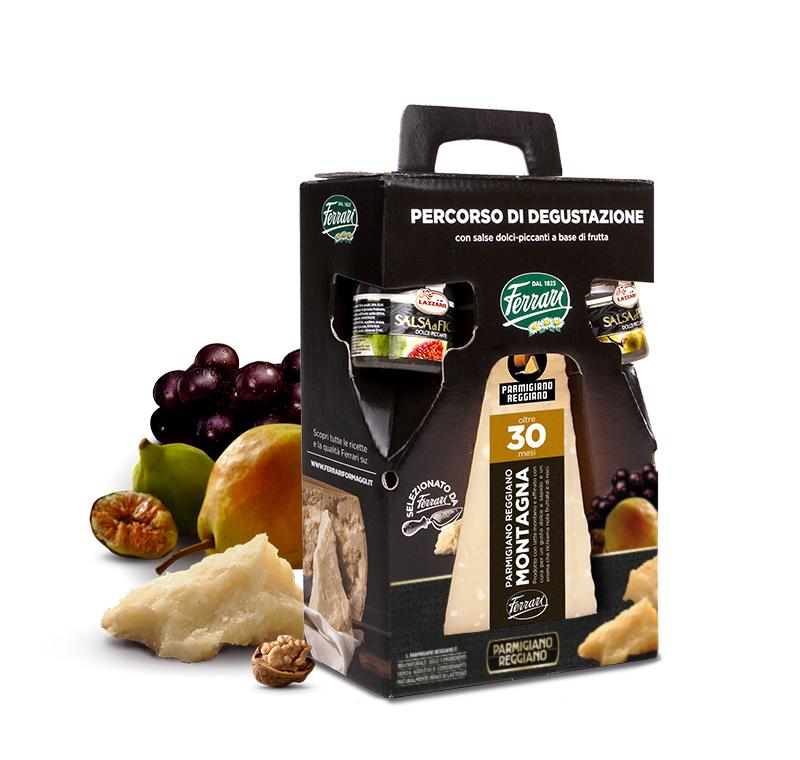 Percorso di Degustazione: Parmigiano Reggiano Prodotto di Montagna 30 mesi con salse dolci piccanti a base di frutta