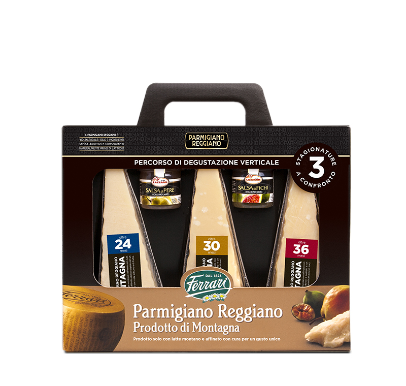Parmigiano Reggiano Prodotto di Montagna - 3 Levels of maturation compared