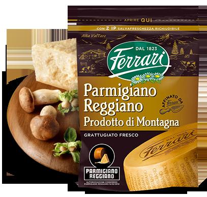 Grated Parmigiano Reggiano Prodotto Di Montagna