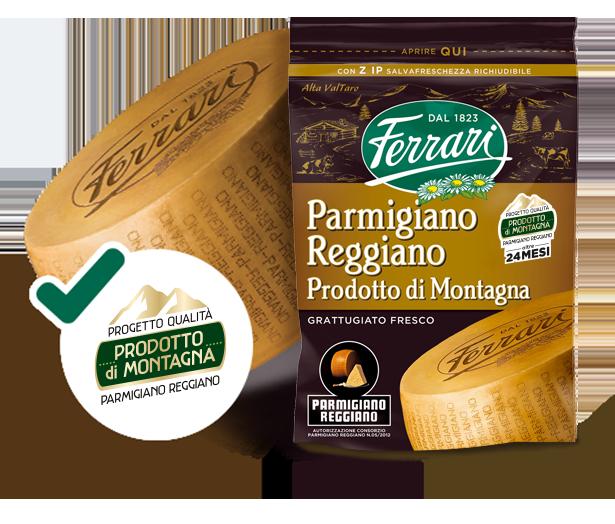 Parmigiano Reggiano Prodotto di montagna – Progetto Qualità - Grattugiato