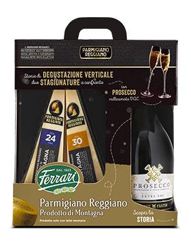 Percorso di Degustazione: Parmigiano Reggiano DOP Prodotto di Montagna con Prosecco DOC Millesimato.