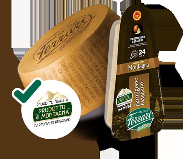 Parmigiano Reggiano Prodotto di Montagna - Progetto Qualità - Spicchio
