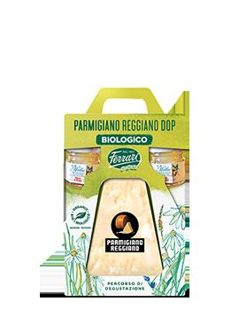 Percorso di degustazione con Parmigiano Reggiano Dop Biologico Ferrari e selezione di mieli biologici
