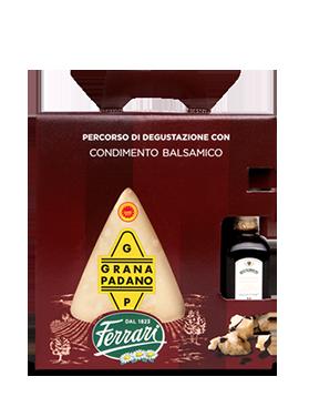 Percorso di degustazione: Grana Padano con Condimento Balsamico