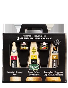 Percorso di degustazione Tre Grandi Italiani a Tavola