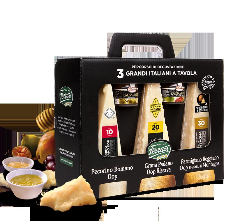 Percorso di degustazione: Tre Grandi Italiani a Tavola