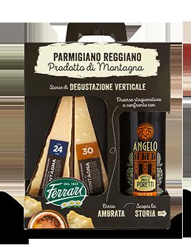 Parmigiano Reggiano Prodotto di Montagna 24 mesi e 30 mesi con birra ambrata